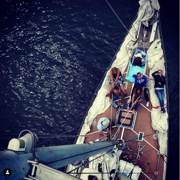 Climb the mast and enjoy the sun on a day sail from Fowey